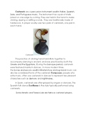 World Percussion Research Pages with Worksheet