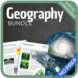 Geography Bundle (Nature, Oceans, Ecosystems and Natural Disasters)