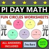 Pi Day Math Printable Circle Area and Circumference Secret