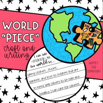 "World ""Piece"" Craft and Writing | MLK Day Activity"