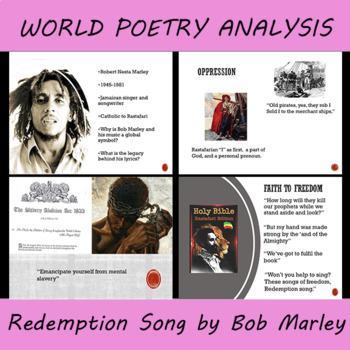 World Poetry Presentation and Script on Bob Marley's Redemption Song