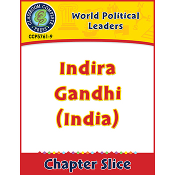 World Political Leaders: Indira Gandhi (India) Gr. 5-8
