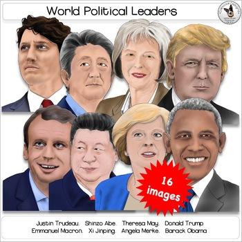 World Political Leaders Realistic Clip Art