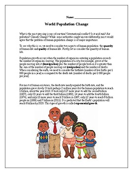 World Population Growth: Do we need to be Concerned?