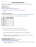 World Population Webquest Worksheet