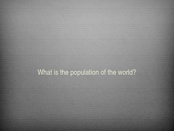 World Populations Breakdowns