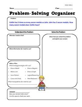 Math Word Problem Activities - Common Core Aligned - Grade 4