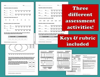 World Record Rounding - rounding to tens/hundreds task cards + printables set