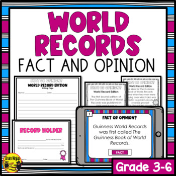 World Records- Fact or Opinion? Activity