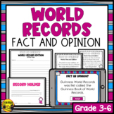 Fact or Opinion Activity World Records