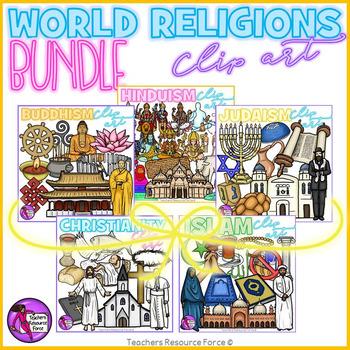 World Religions Clip Art Bundle