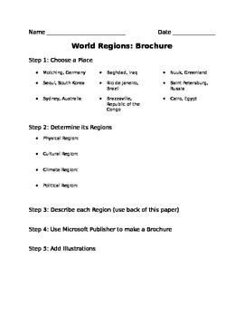 World Regions Brochure Project