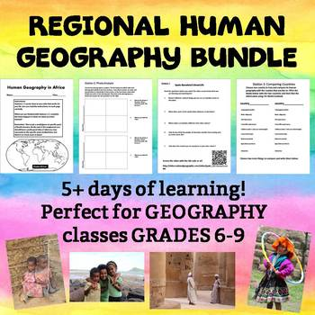 World Regions- Human Geography Assignments Bundle