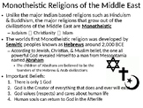 LESSON BUNDLE - World Religion:  Monotheistic Belief Systems