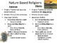 World Religion:  Nature based & Polytheistic Belief Systems