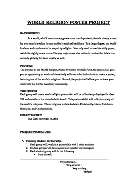 World Religion Poster Project