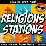 World Religion Stations Activity Set and Comparing Religions Mingle