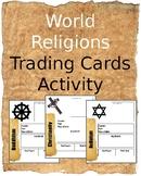 World Religion Trading Cards Activity