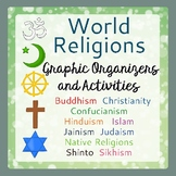 World Religions Graphic Organizers, Activities