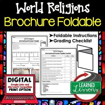 World Religions Brochure Foldable