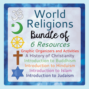 World Religions Bundle of 6 Resources