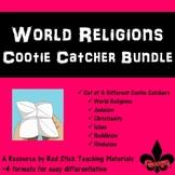 World Religions Bundle of 6 Cootie Catchers