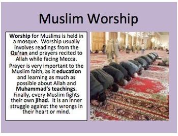 World Religions Investigation and Comparison Centers Activity