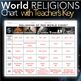 World Religions Chart - Hinduism, Buddhism, Judaism, Christianity and Islam