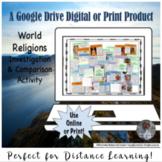 World Religions Comparison Interactive Lesson Activity for