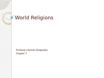 World Religions Comprehensive PowerPoint