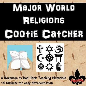 World Religions Cootie Catcher