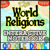 World Religions DIGITAL Interactive Notebook! Google Drive | Distance Learning