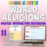 World Religions Digital Interactive Notebook for Distance