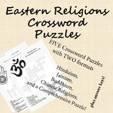 World Religions Eastern Religions Crossword Puzzles Worksheets