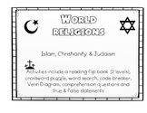 World Religions Flip Book and Activities - Engage NY ELA Domain 4