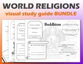 World Religions Visual Study Guide Bundle