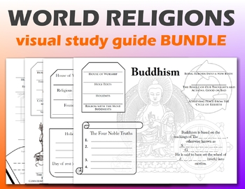 World Religions Graphic Study Guide Bundle