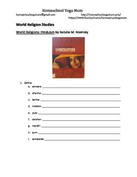 World Religions: Hinduism Book Questions