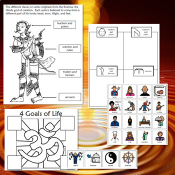 World Religions: Hinduism for Mid/High School Special Ed with lesson plans