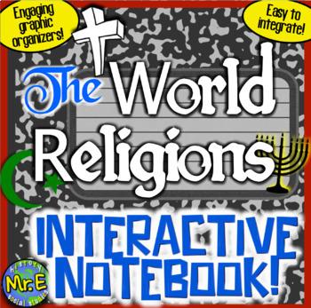 World Religions Interactive Notebook Judaism Christianity Islam