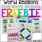World Religions Interactive Notebook and Graphic Organizers Freebie