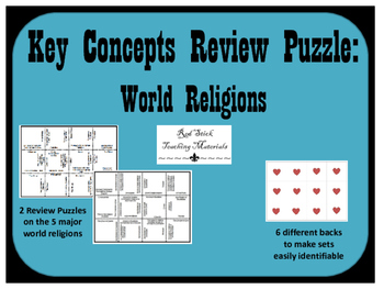 World Religions Key Concepts Puzzle--Set of 2