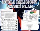 World Religions Worksheets and Map