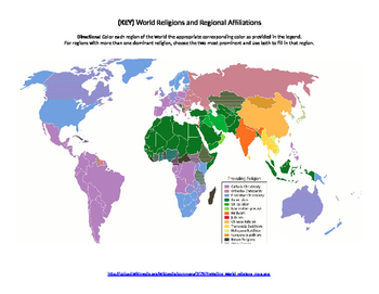 World Religions Map Quiz