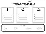 World Religions Matching