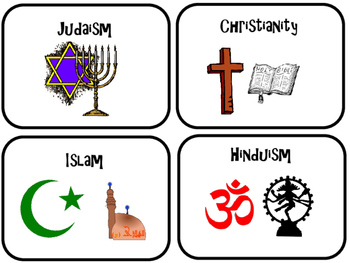 World Religions Matching Game