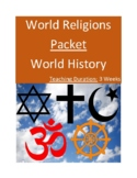 World Religions Packet (Jewish, Christian, Muslim, Hindu,