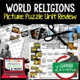 World Religions Picture Puzzle Unit Review, Study Guide, Test Prep-World History