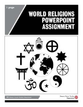 World Religions PowerPoint Assignment