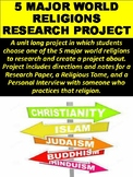 5 Major World Religions Research Project